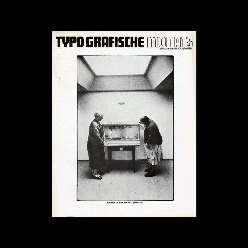 Typografische Monatsblätter, 2, 1977. Cover design by Hans-Rudolf Lutz