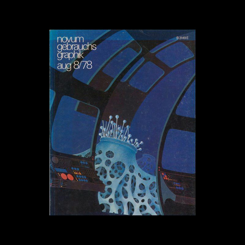 Novum Gebrauchsgraphik, 8, 1978. Cover design by Christian Josef