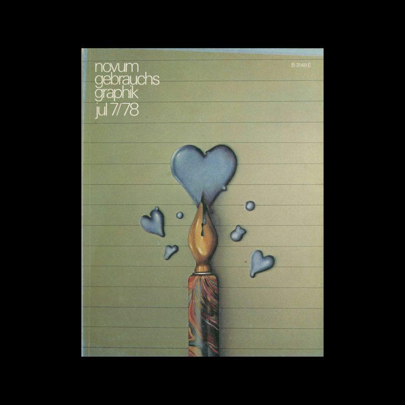 Novum Gebrauchsgraphik, 7, 1978. Cover design by Dieter Ziegenfeuter