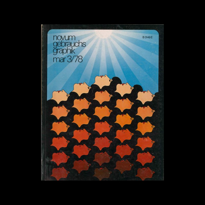 Novum Gebrauchsgraphik, 3, 1978. Cover design by Wenzel Schmidt