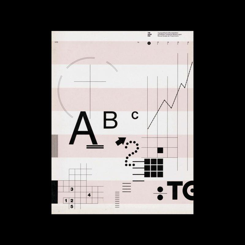 Typografische Monatsblätter, 2, 1979. Cover design by Willi Kunz