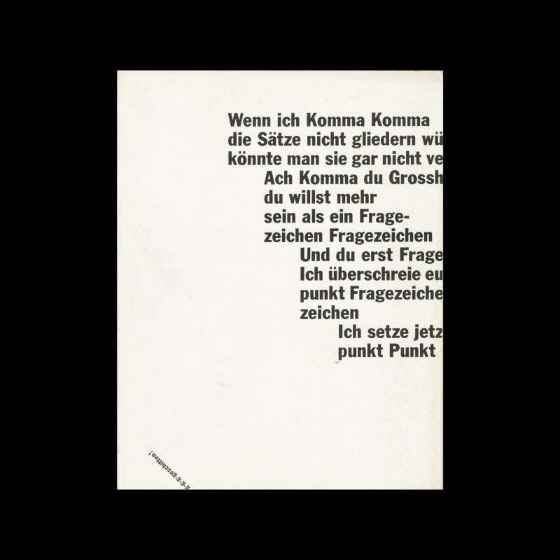Typografische Monatsblätter, 2, 1980. Cover design by Dora Wespi