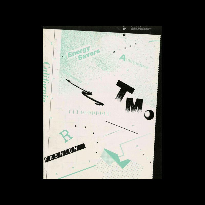 Typografische Monatsblätter, 5, 1980. Cover design by Willi Kunz and Grace Kao