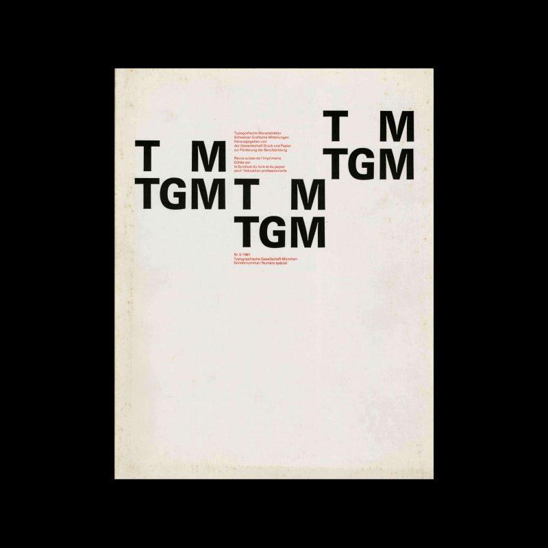 Typografische Monatsblätter, 5, 1981. Cover design by Philipp Luidl