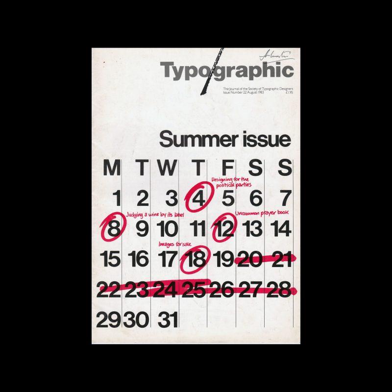 Typographic, 22, August 1983