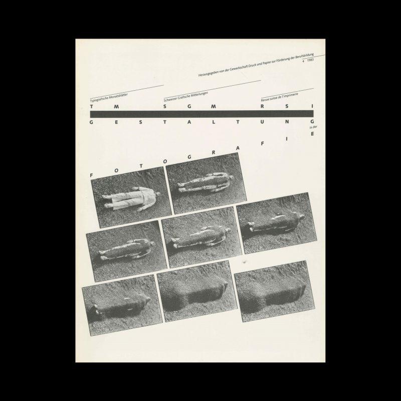Typografische Monatsblätter, 4, 1983. Cover design by Hans Rudolf Bosshard