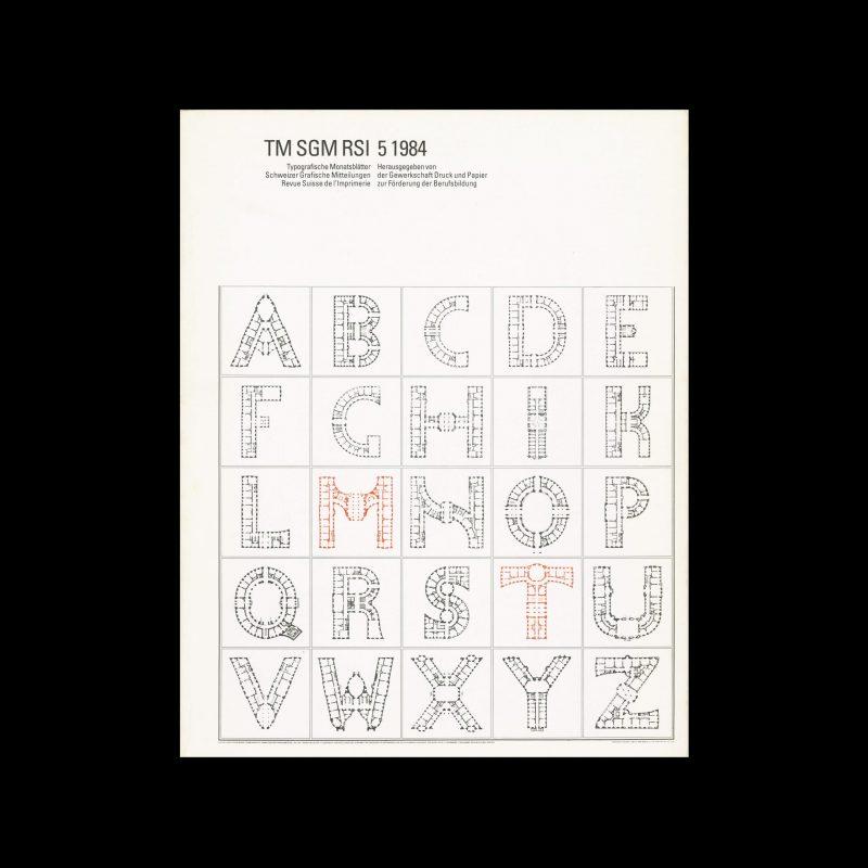 Typografische Monatsblätter, 5, 1984. Cover design by Jean-Pierre Graber