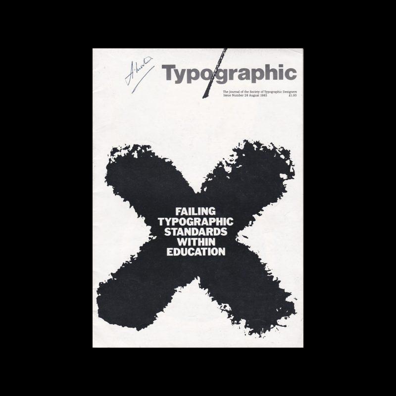 Typographic, 28, August 1985