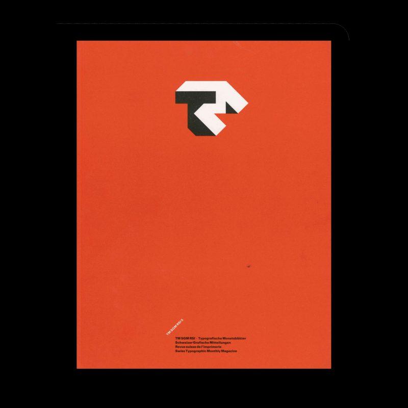 Typografische Monatsblätter, 5, 1985. Cover design by Jost Hochuli