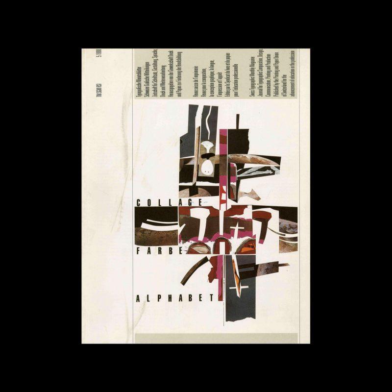 Typografische Monatsblätter, 5, 1990. Cover design by Jean-Pierre Graber