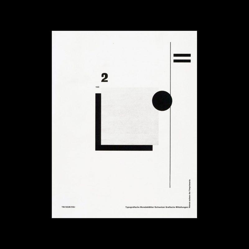 Typografische Monatsblätter, 2, 1992