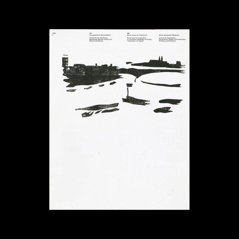 Typografische Monatsblätter, 3, 1998. Cover design by Helmut Schmid (woodcut by Kurt Hauert)