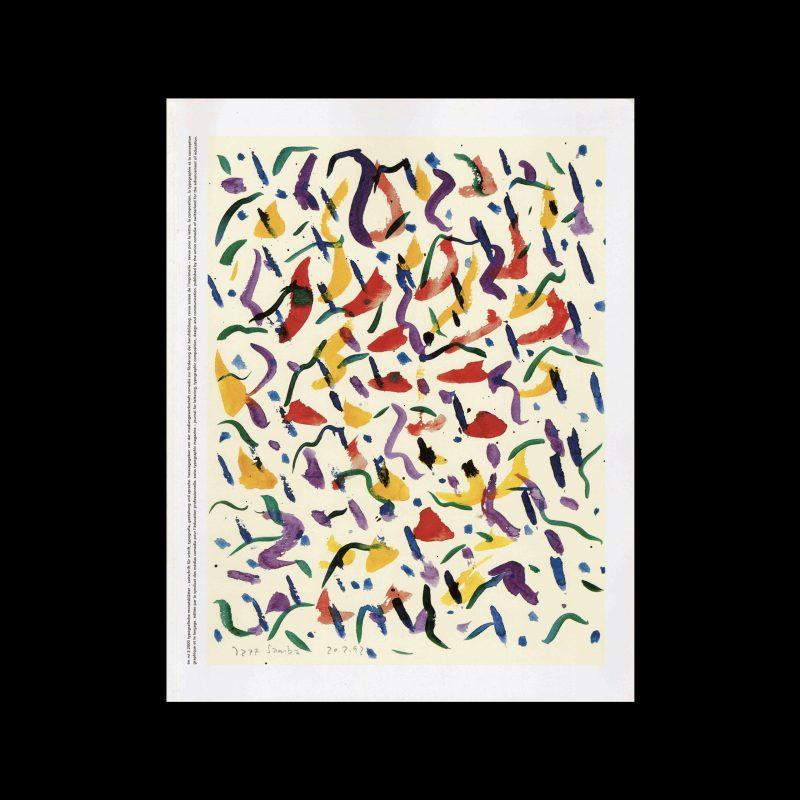 Typografische Monatsblätter, 2, 2000. Cover design by Niklaus Troxler