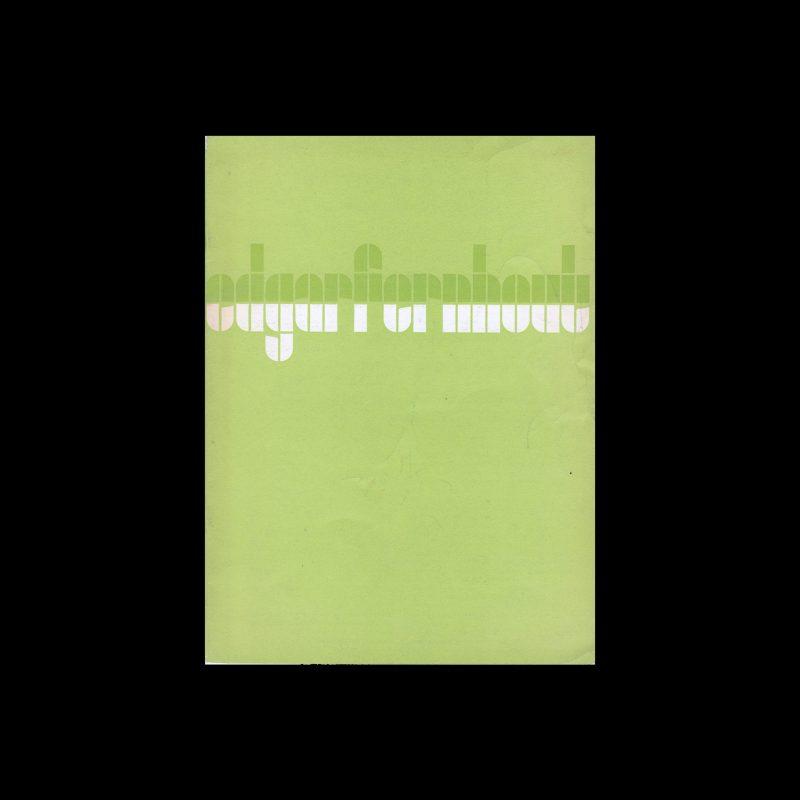 Edgar Fernhout, Stedelijk Museum, Amsterdam, 1963 designed by Wim Crouwel (Total Design)