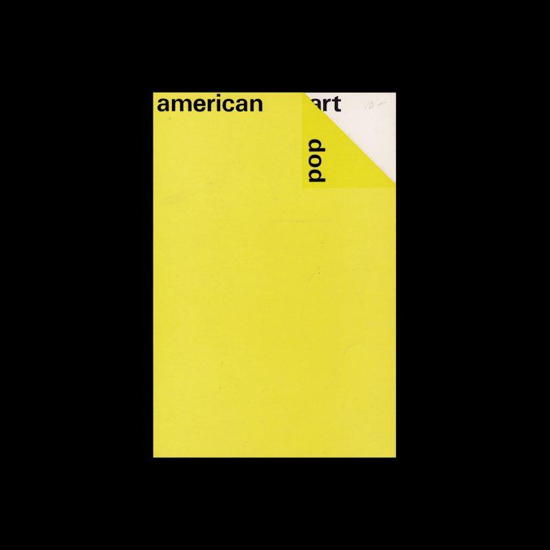 American Pop Art, Stedelijk Museum, Amsterdam, 1964 designed by Wim Crouwel (Total Design)