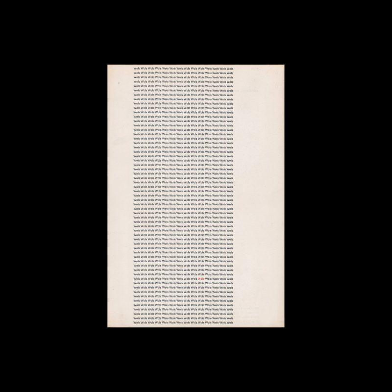 Wols. Schilderijen, gouaches, aquarellen, tekeningen, Stedelijk Museum, Amsterdam, 1966 designed by Wim Crouwel