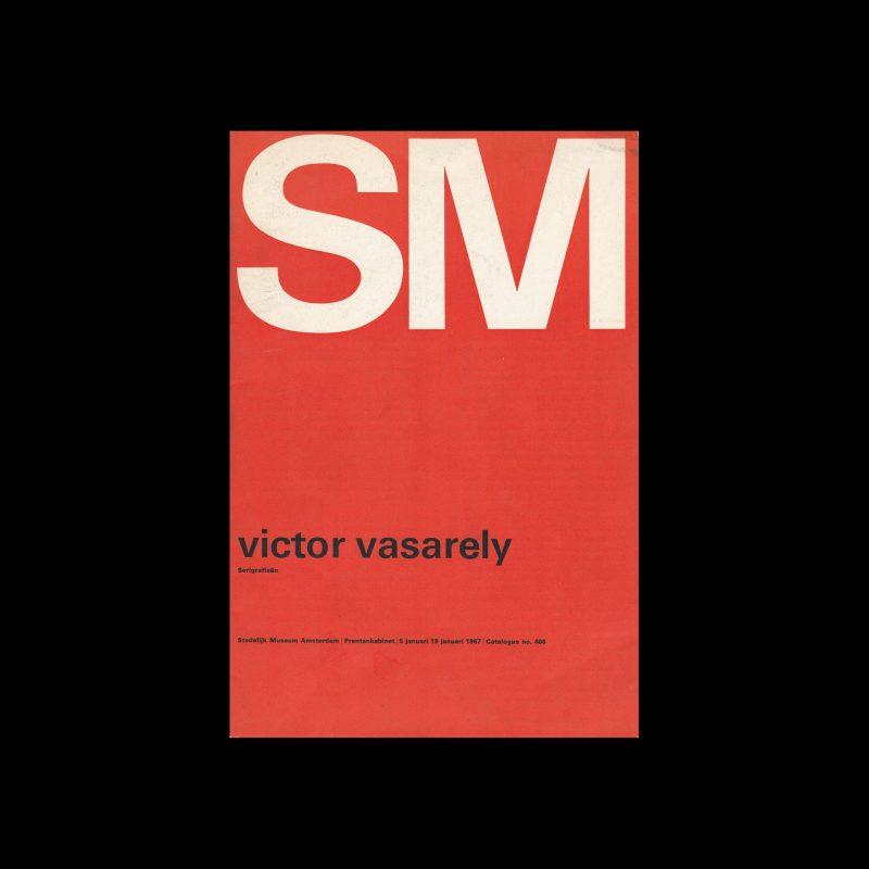Victor Vasarely, Stedelijk Museum, Amsterdam, 1967. Designed by Wim Crouwel and Josje Pollmann (Total Design)