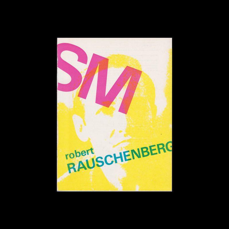 Robert Rauschenberg, Stedelijk Museum, Amsterdam, 1968 design by Wim Crouwel (Total Design)