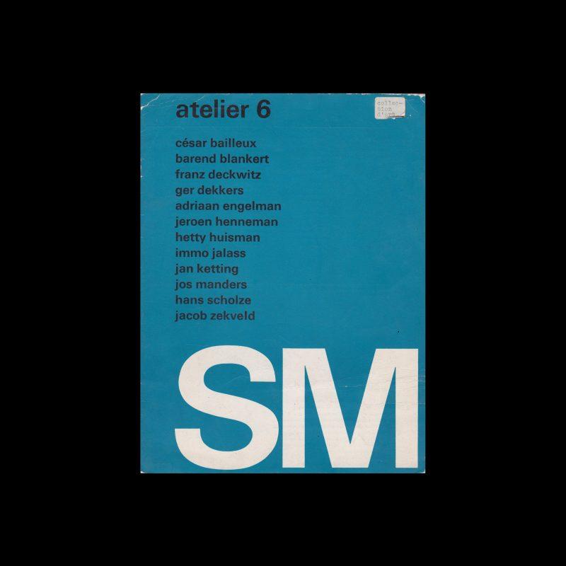 Atelier 6, Stedelijk Museum, Amsterdam, 1969 designed Wim Crouwel