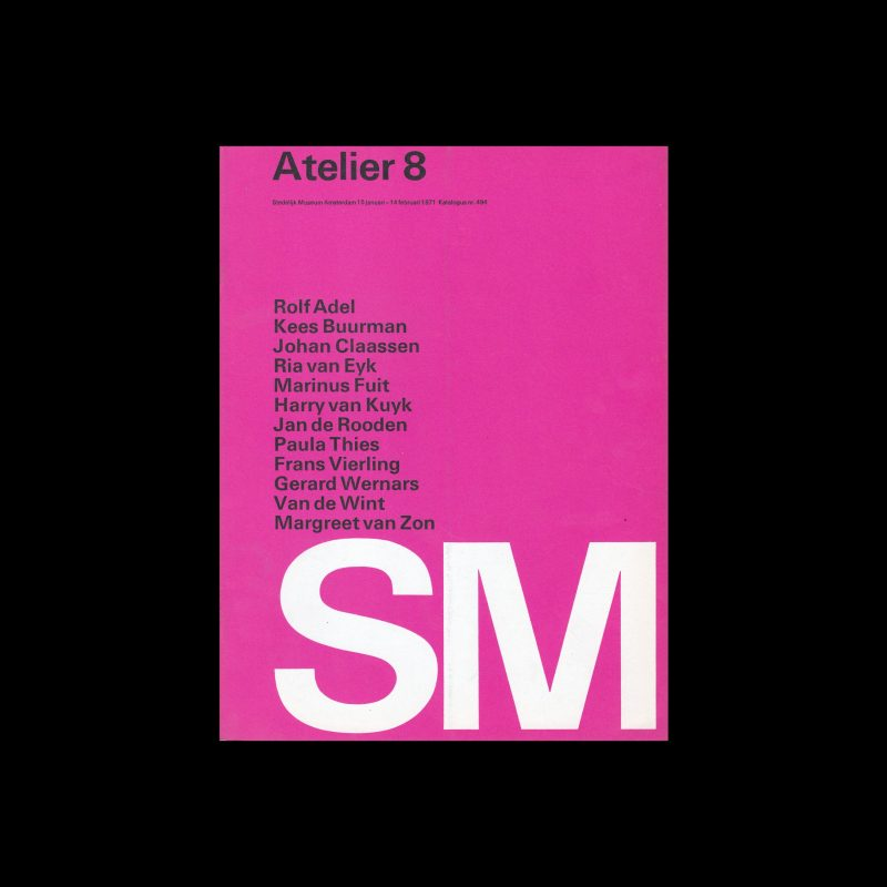 Atlelier 8, Stedelijk Museum, Amsterdam, 1971 designed by Wim Crouwel (Total Design)