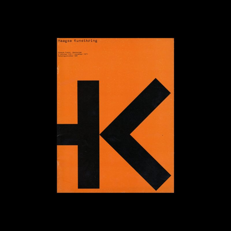 Haagse Kunstkring, Stedelijk Museum, Amsterdam, 1971 designed by Wim Crouwel and David Gal (Total Design)