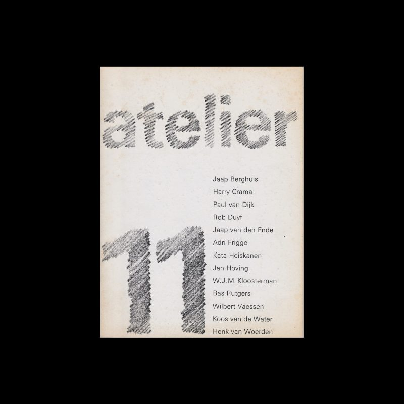 Atelier 11, Stedelijk Museum, Amsterdam, 1973 designed by Wim Crouwel and Daphne Duijvelshoff (Total Design)