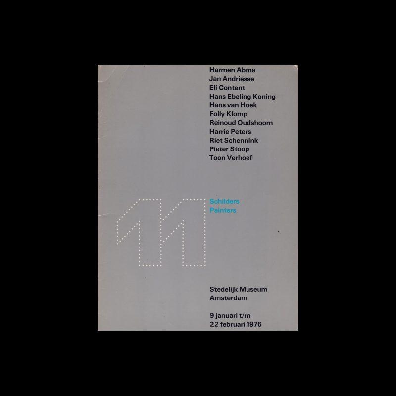 11 Painters, Stedelijk Museum, Amsterdam, 1976 designed by Wim Crouwel and Daphne Duijvelschoff (Total Design)