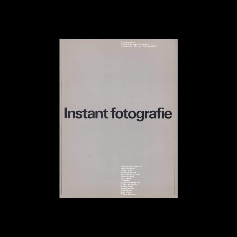 Instant Fotografie, Stedelijk Museum, Amsterdam, 1982 designed by Wim Crouwel
