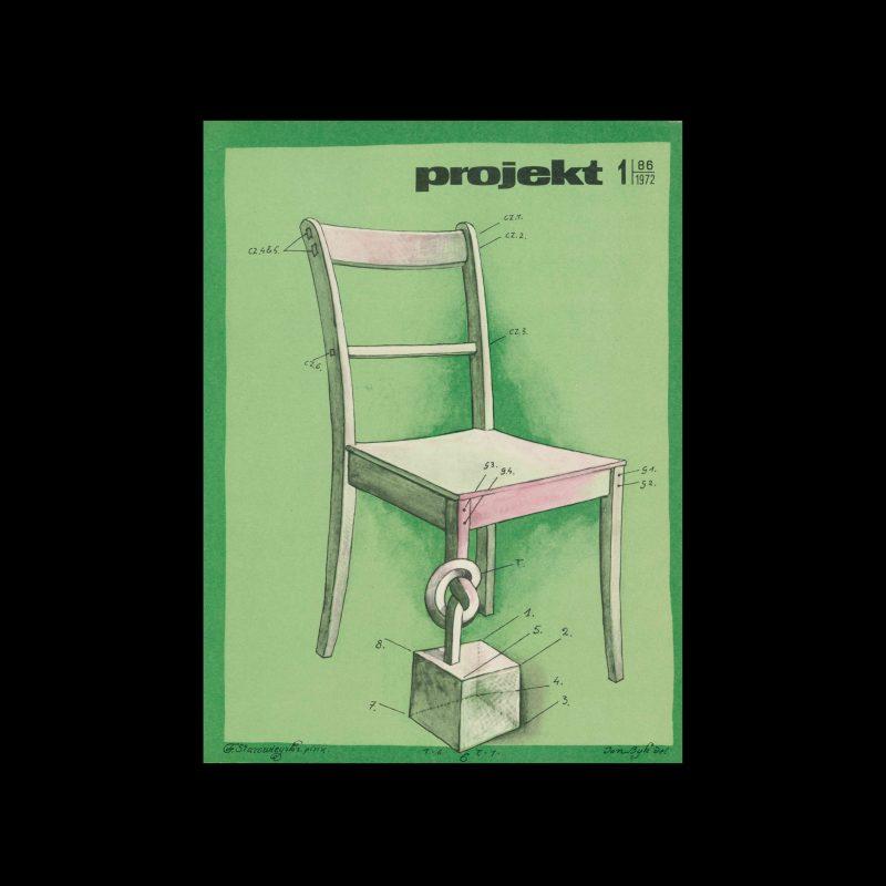 Projekt 86, 1, 1972. Cover design by Franciszek Starowieyski.
