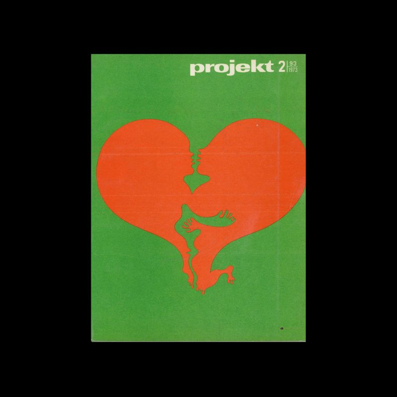Projekt 93, 2, 1973. Cover design by Jan Dobkowski