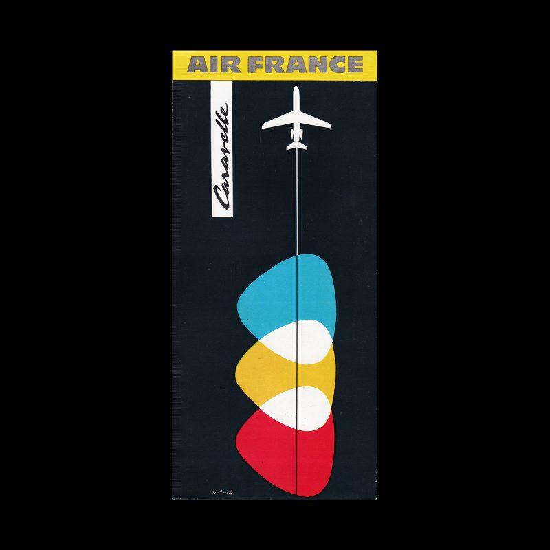 Air France Caravelle Leaflet, 1958. Design by Jean Fortin