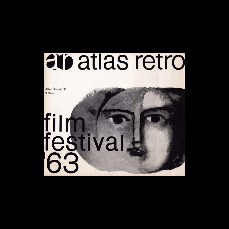 Atlas Filmheft 22 - Film Festival '63 designed by Karl Oskar Blase