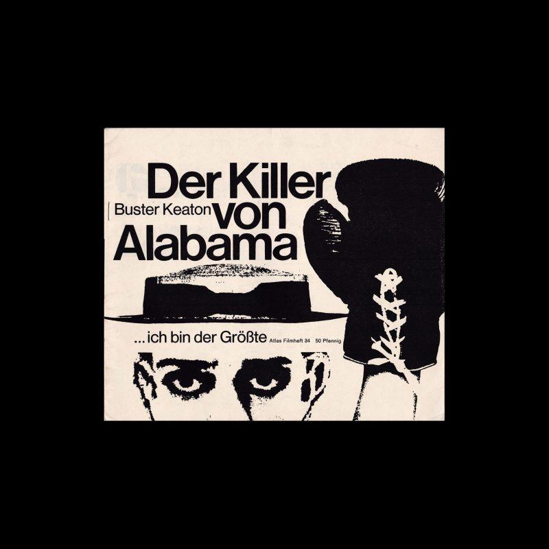 Atlas Filmheft 34 - Der Killer von Alabama designed by Michel + Kieser