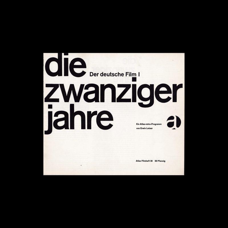 Atlas Filmheft 38 - Die zwanziger Jahre designed by Karl Oskar Blase