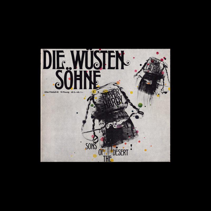 Atlas Filmheft 62 - Die Wüstensöhne designed by Michel + Kieser