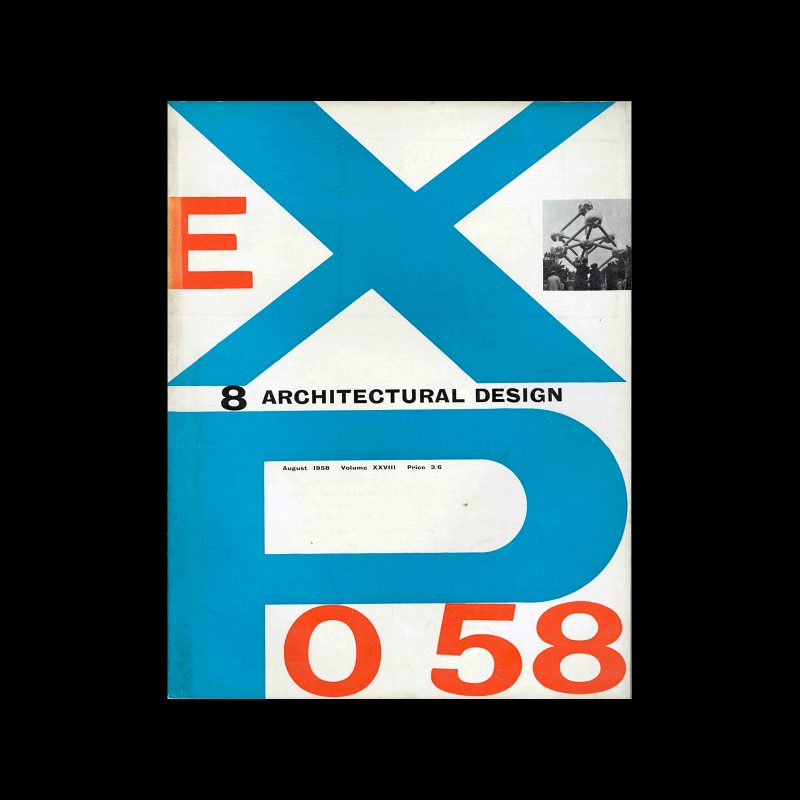Architectural Design, August 1958. Cover design by Theo Crosby