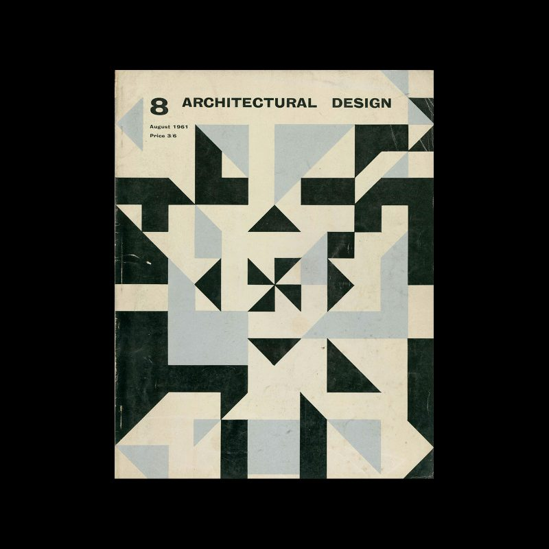 Architectural Design, August 1961. Cover design by Theo Crosby