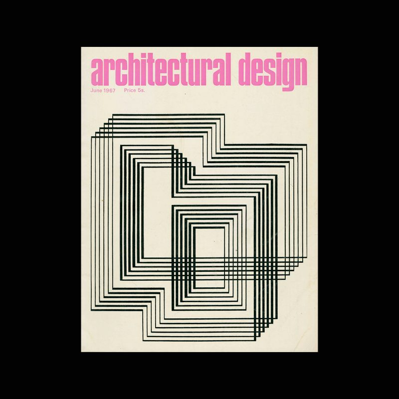 Architectural Design, June 1967. Cover image by Josef Albers