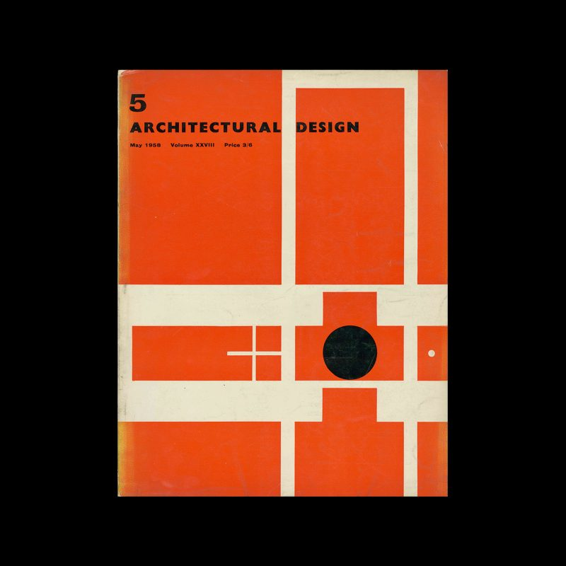 Architectural Design, May 1958. Cover design by Theo Crosby