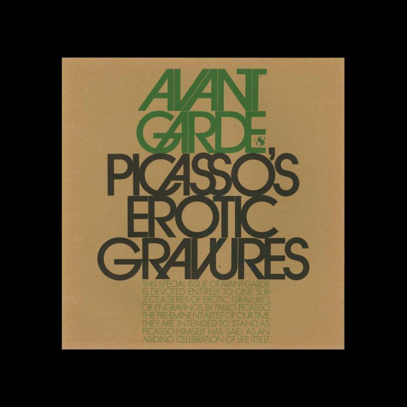 Avant Garde Volume 8, September 1969. Designed by Herb Lubalin
