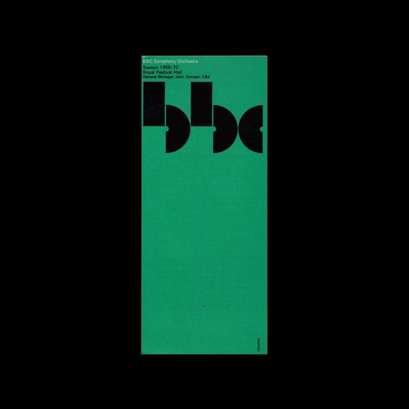 BBC Symphony Orchestra, Season 1969-70, Brochure Designed by Gerald (Jerry) Cinamon