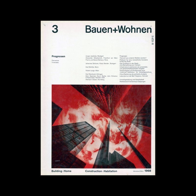 Bauen+Wohnen, 3, 1968. Designed by Emil Maurer