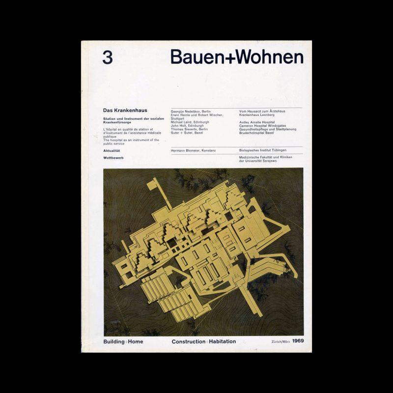 Bauen+Wohnen, 3, 1969. Designed by Emil Maurer