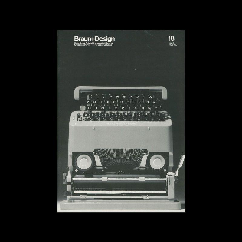 Braun+Design, 18, 1991. Designed by Jo Klatt.
