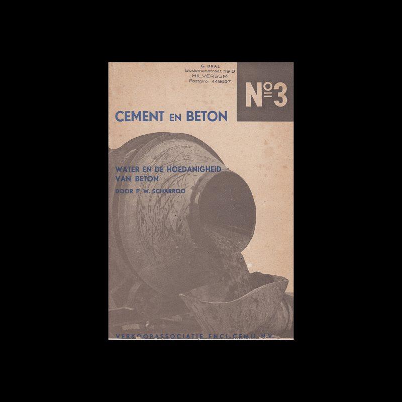 Cement en Beton, 3, 1939. Design by Paul Schuitema.