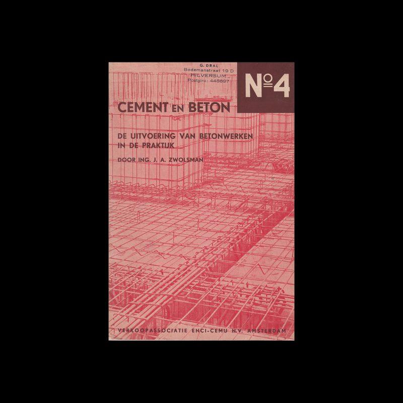 Cement en Beton, 4, 1940. Design by Paul Schuitema.