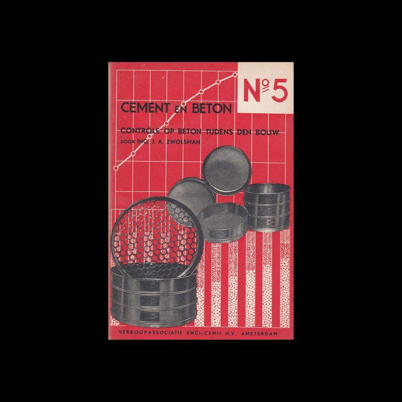 Cement en Beton, 5, 1941. Design by Paul Schuitema.