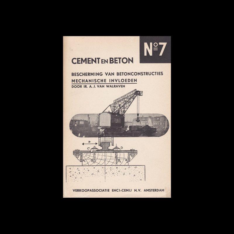 Cement en Beton, 7, 1943. Design by Paul Schuitema.