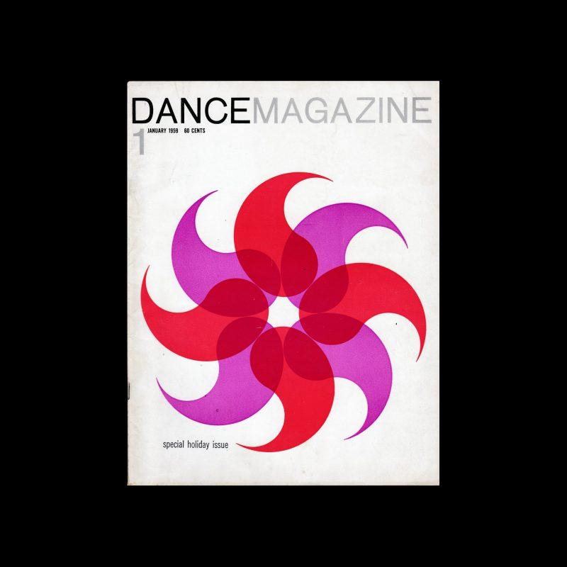 Dance Magazine 1, 1959 designed by Rudolph de Harak