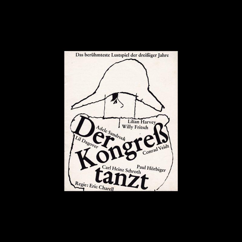 Der berühmteste Lustspiel der dreißiger Jahre. Die Kleine Filmkunstreihe 41 designed by Hans Hillmann